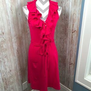 SEXY Lauren Ralph Lauren pink ruffle dress small